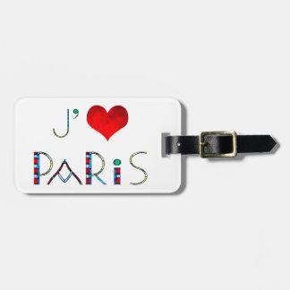 Vitral personalizado de París Notre Dame del amor Etiqueta Para Maletas