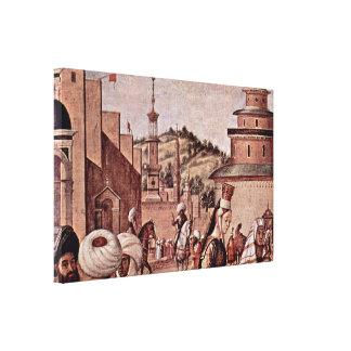 Vittore Carpaccio - bautismo de creyentes Lona Estirada Galerias
