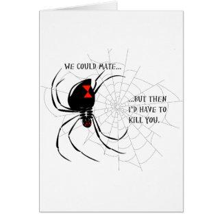Viuda negra tarjeta de felicitación