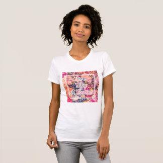 Viva como una flor camiseta