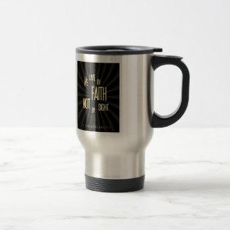 Viva con la fe no por vista tazas de café