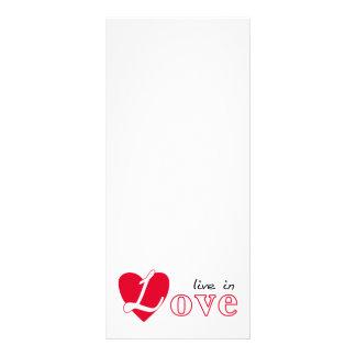 Viva en amor diseño de tarjeta publicitaria