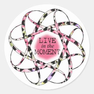 Viva en la cinta circular floaty colorida del pegatina redonda