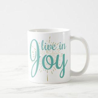 Viva en taza de la alegría el  