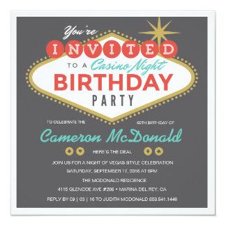 Viva Las Vegas Invitación 13,3 Cm X 13,3cm