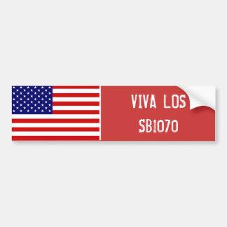 VIVA LOS SB1070 PEGATINA DE PARACHOQUE