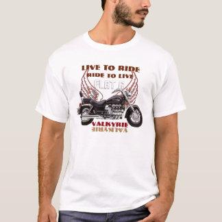 Viva para montar diseño de la motocicleta de camiseta