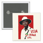 Viva Presidente Obama Chapa Cuadrada
