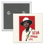 Viva Presidente Obama Chapa Cuadrada 5 Cm