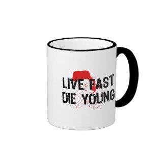 Viva rápidamente, muera los jóvenes taza de dos colores