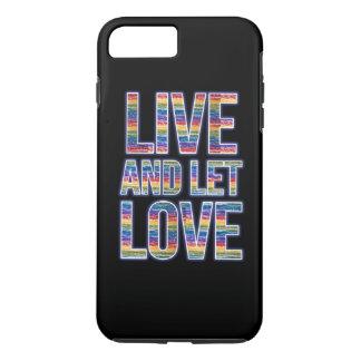 Viva y deje el arco iris del amor funda iPhone 7 plus