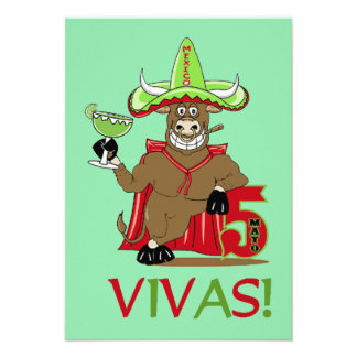 ¡VIVAS! Invitaciones del fiesta de Cinco de Mayo Anuncios Personalizados
