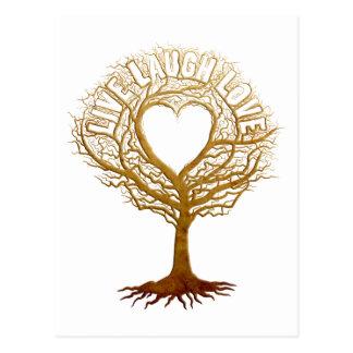 Vive el amor de la risa - árbol de la vida postal