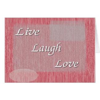 Vive el amor de la risa tarjetón