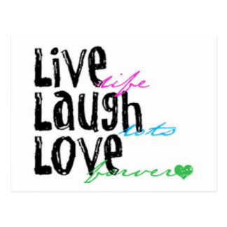 Vive el amor de la risa postales