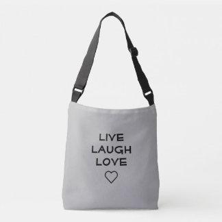 Vive el bolso crossbody del amor de la risa