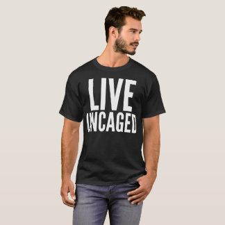 Vive la camiseta libertada de la tipografía