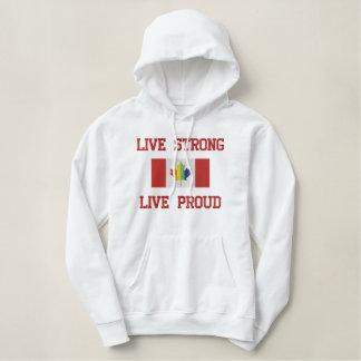 Vive la camiseta orgullosa fuerte, viva del sudadera bordada con capucha