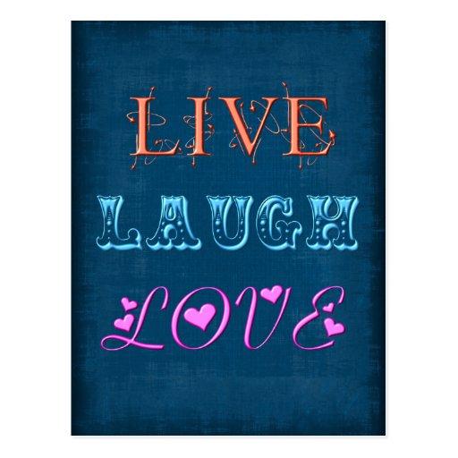 Vive la postal del amor de la risa