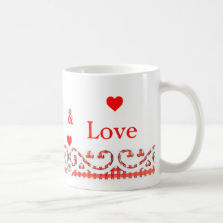 Vive la taza de café del amor de la risa