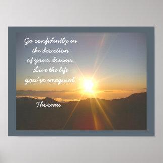 Vive la vida -- Cita de Thoreau - impresión del