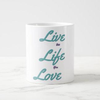 Vive la vida que usted ama la taza de café