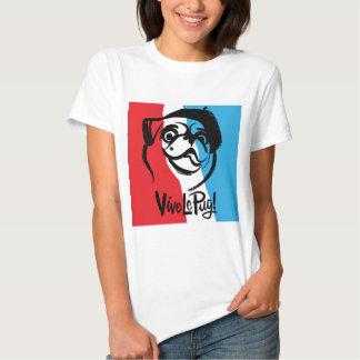 ¡Vive le Pug! Camiseta