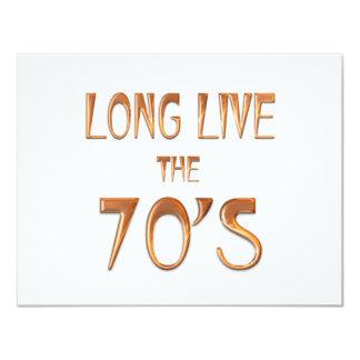 Viven de largo los años 70 comunicados personalizados