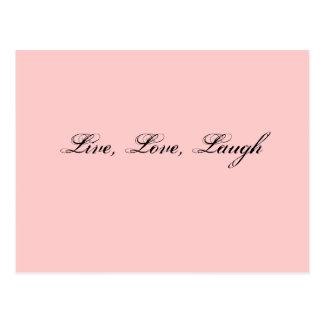 Vivo, amor, risa postal