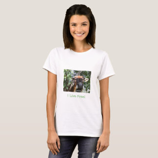 ¡Vivo libremente! Camiseta del bienestar animal