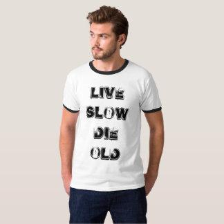 Vivo redúzcase mueren viejo camiseta