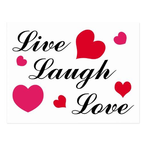 Vivo, risa, amor tarjeta postal