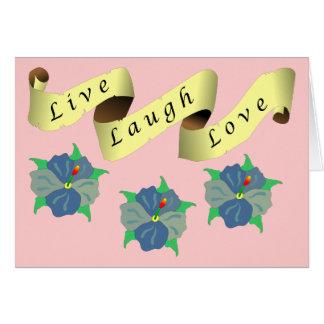 Vivo, risa, cinta del amor felicitacion