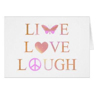 Vivo risa tarjeta de felicitación del amor