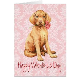 Vizsla subió tarjeta del día de San Valentín