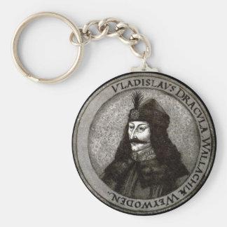Vlad el Impaler [cuenta Drácula] Llavero Redondo Tipo Chapa