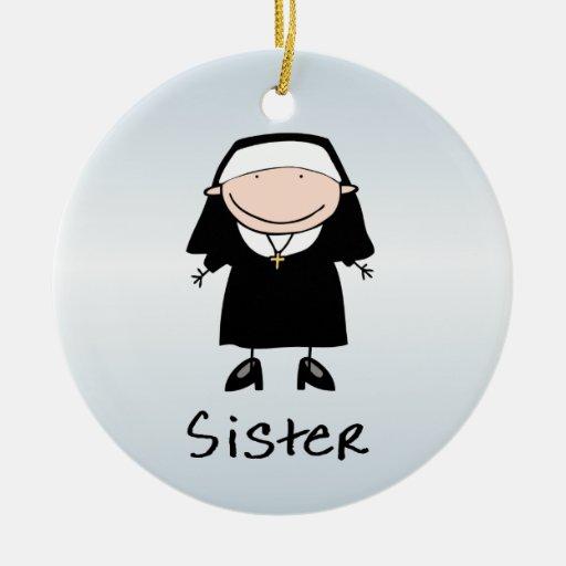 Vocación religiosa de la monja del empleo personal ornamentos de navidad