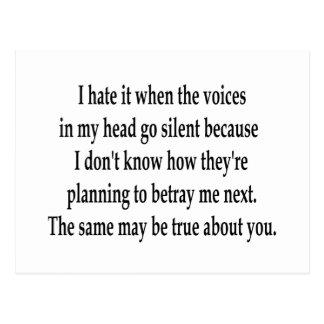 Voces silenciosas postal