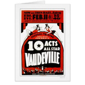 Vodevil All Star WPA 1938 Tarjeta De Felicitación