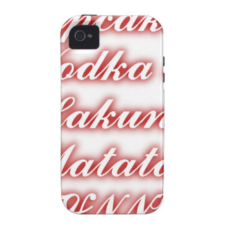 Vodka roja Hakuna Matata de las magdalenas iPhone 4 Funda