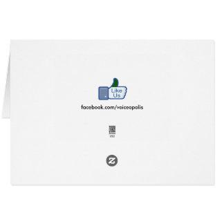VoiceOpolis-Agradézcale por sus negocios Tarjeta De Felicitación