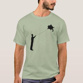 Volar una cometa del planeador del azúcar camiseta