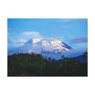Volcán capsulado nieve de la impresión de la lona  lienzo envuelto para galerías