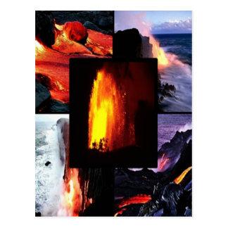 Volcán hawaiano de la lava tarjetas postales