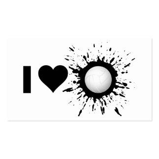 Voleibol 1 del amor del explosivo I Plantilla De Tarjeta De Visita