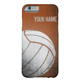 Voleibol con la sombra del naranja del efecto del funda de iPhone 6 barely there