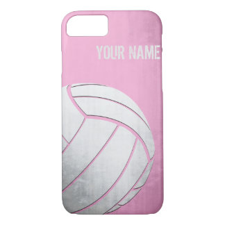 Voleibol con la sombra del rosa del efecto del funda iPhone 7