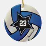 Voleibol de la estrella del azul y del blanco ornatos