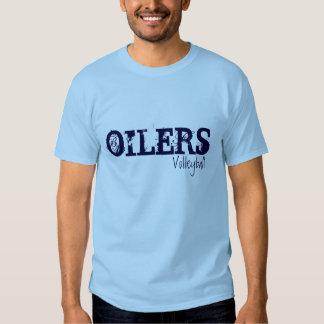 Voleibol de los engrasadores camisetas