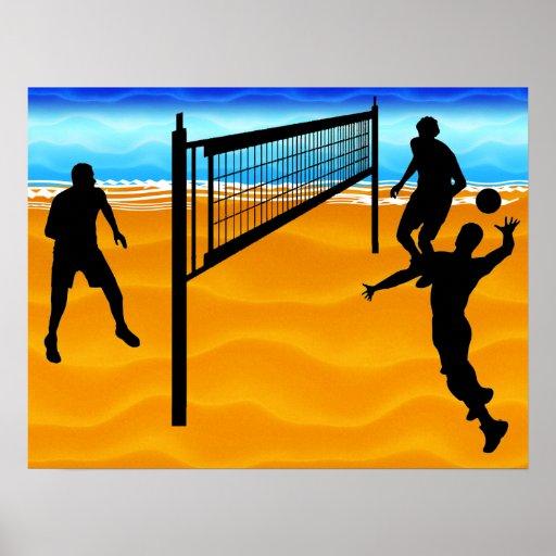 Voleibol de playa impresiones